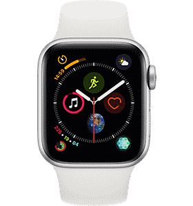 211888e33 Apple Apple reg  Watch Series 4 Aluminum 40mm Case with Sport Band Colour  Silver White