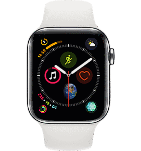3413c3d600b Apple Apple reg  Watch Series 4 Stainless Steel 44mm Case with Sport Band  Colour Silver