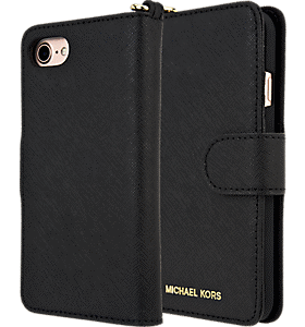 784ae630c7d406 Michael Kors Saffiano Leather Folio Case for iPhone 8/7 Colour Black